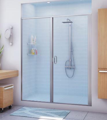 Semi Frameless Stik Stall Shower Enclosure